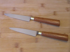 Carbon Steel Blade, brass bullet casings,